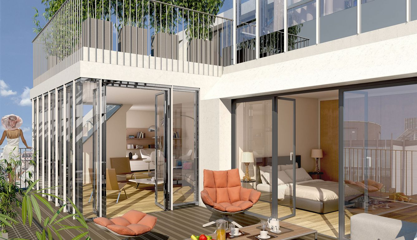 APPARTEMENT LUXUEUX DE 114.92 M2 AVEC TERRASSE ET DOUBLE PARKING A PARIS 5