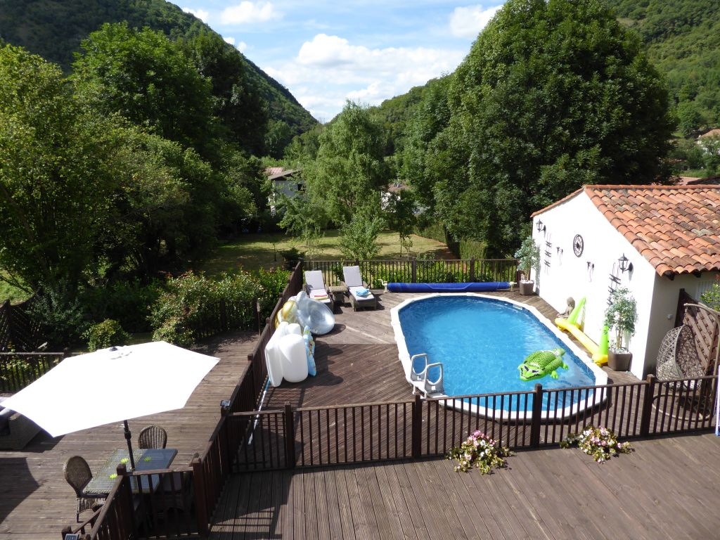 Fully renovated convent in the heart of a French village in the Pyrenees foothills with pool and extension potential.