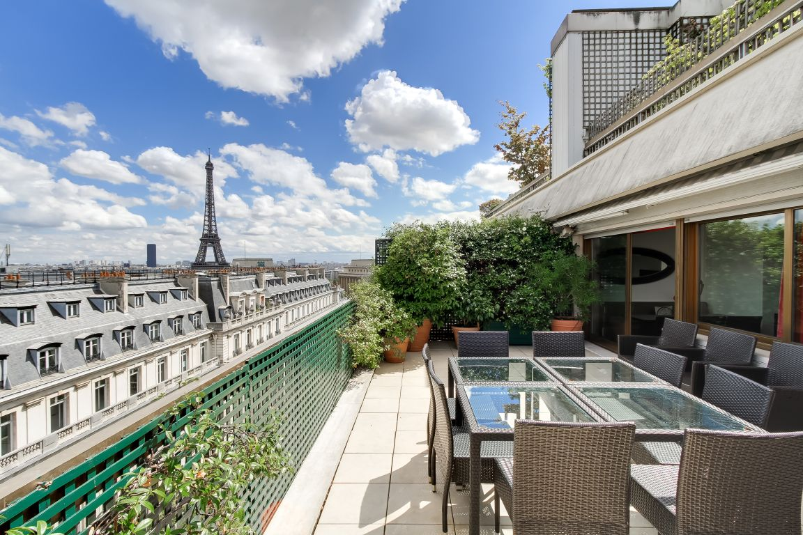 Location appartement vue Tour Eiffel