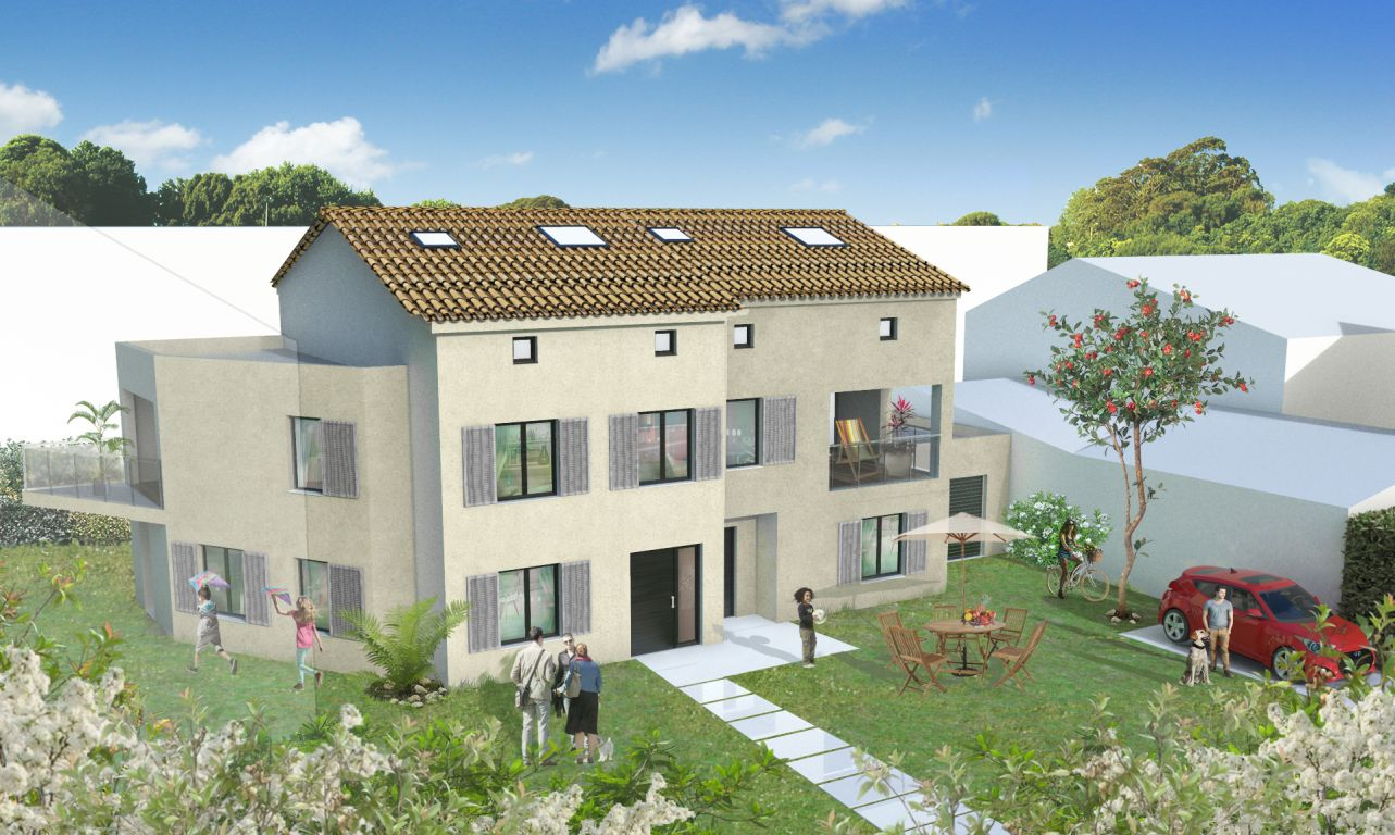 GRAND T2 NEUF DANS RESIDENCE A TAILLE HUMAINE