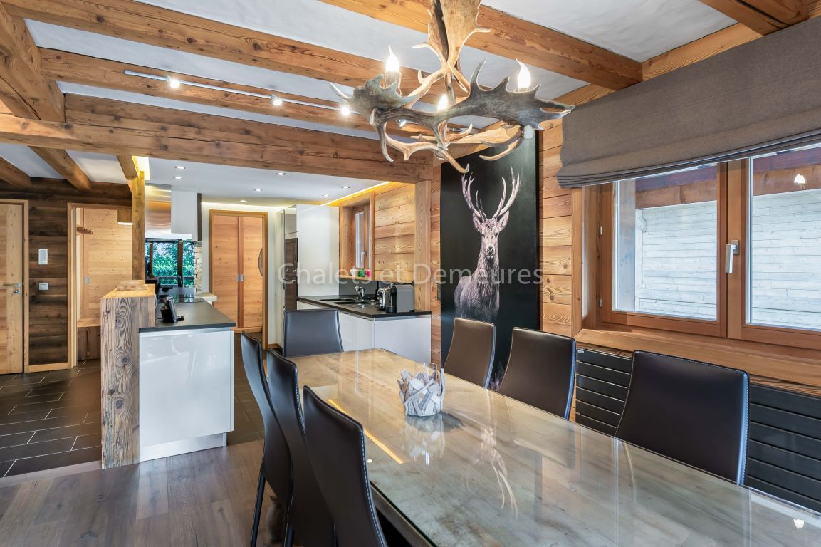 Megeve centre village appartement T4 en duplex